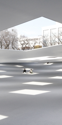 Junya Ishigami's semi-outdoor plaza in Japan emphasises on ways to spend time
