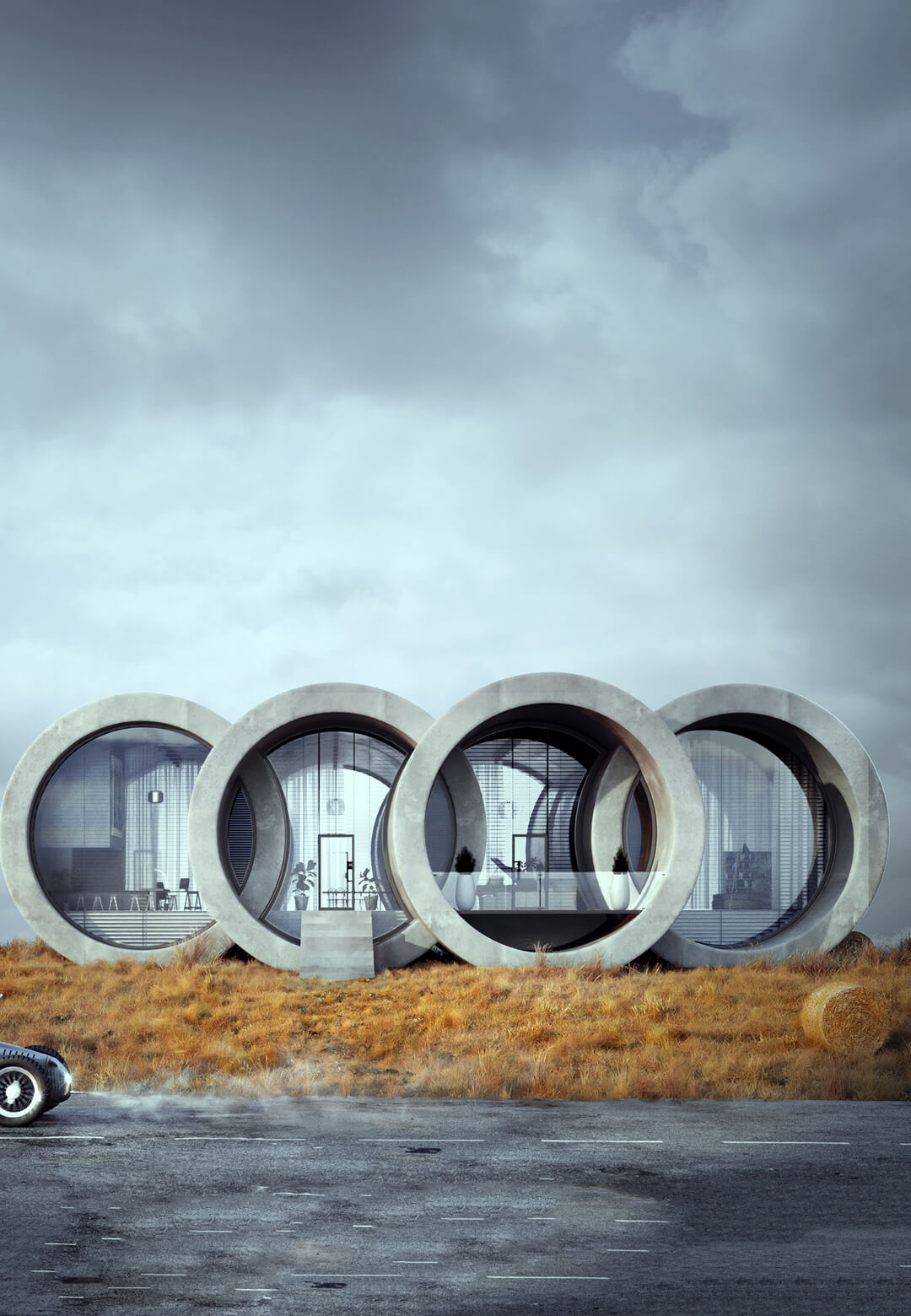 Ringhouse, a conceptual house design inspired by the Audi logo, by Polish designer Karina Wiciak | Karina Wiciak of Wamhouse Studio conceptualises house designs inspired by brand logos | STIRworld