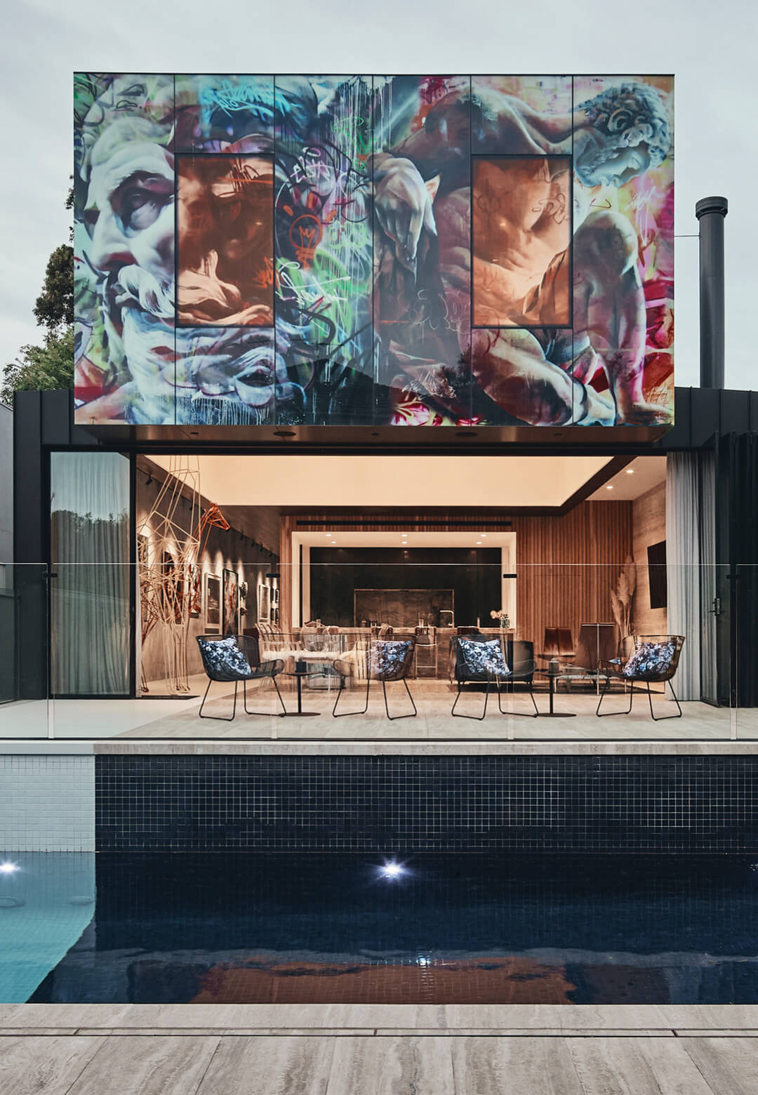 JARtB House by Kavellaris Urban Design in Melbourne, Australia, features a Digiglass façade mural with artwork by PichiAvo   JARtB House by Kavellaris Urban Design   STIRworld