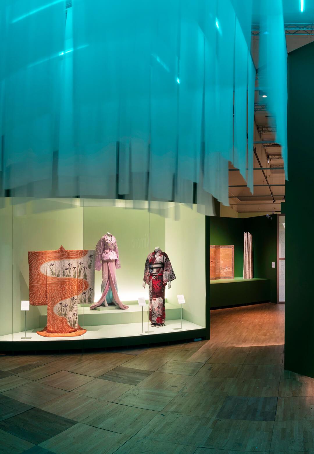 Installation shot of Kimono: Kyoto to Catwalk | STIRworld