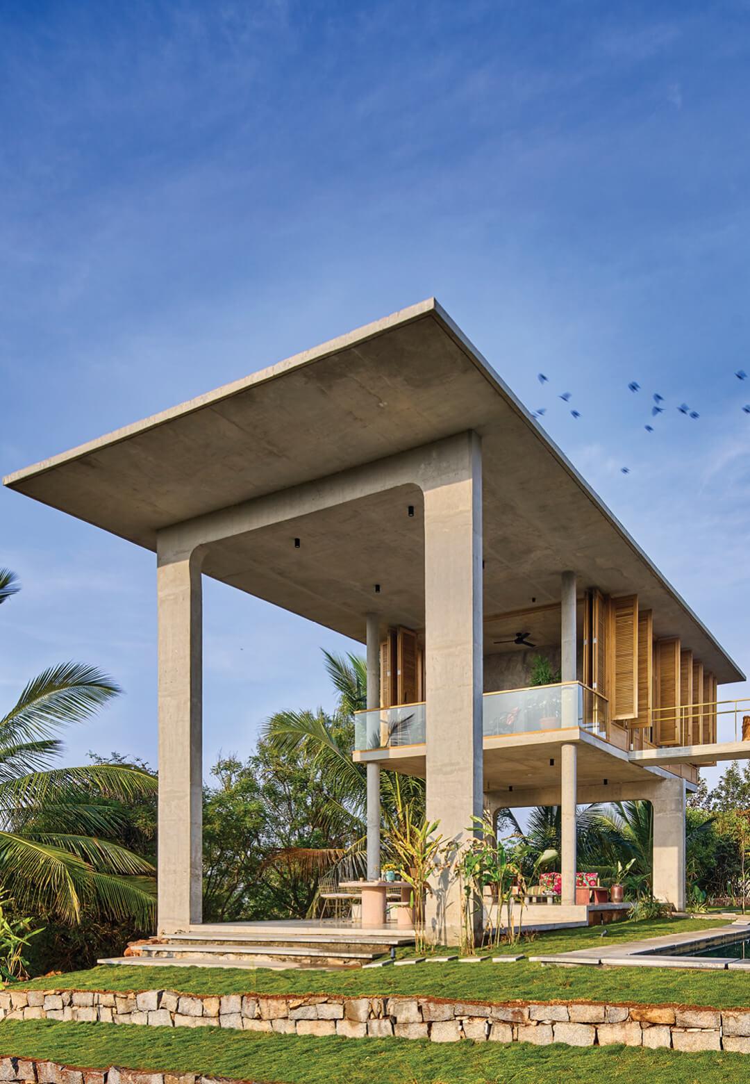 Ksaraah residence is a weekend retreat overlooking the Savandurga hill in rural Bengaluru | Ksaraah Residence | Taliesyn | STIRworld