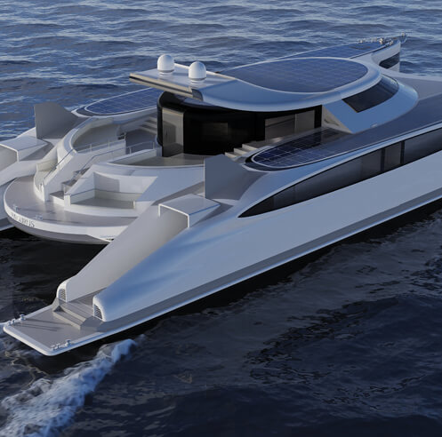 Lazzarini Design Studio's 'Pagurus' is a 'crab-shaped' amphibious catamaran
