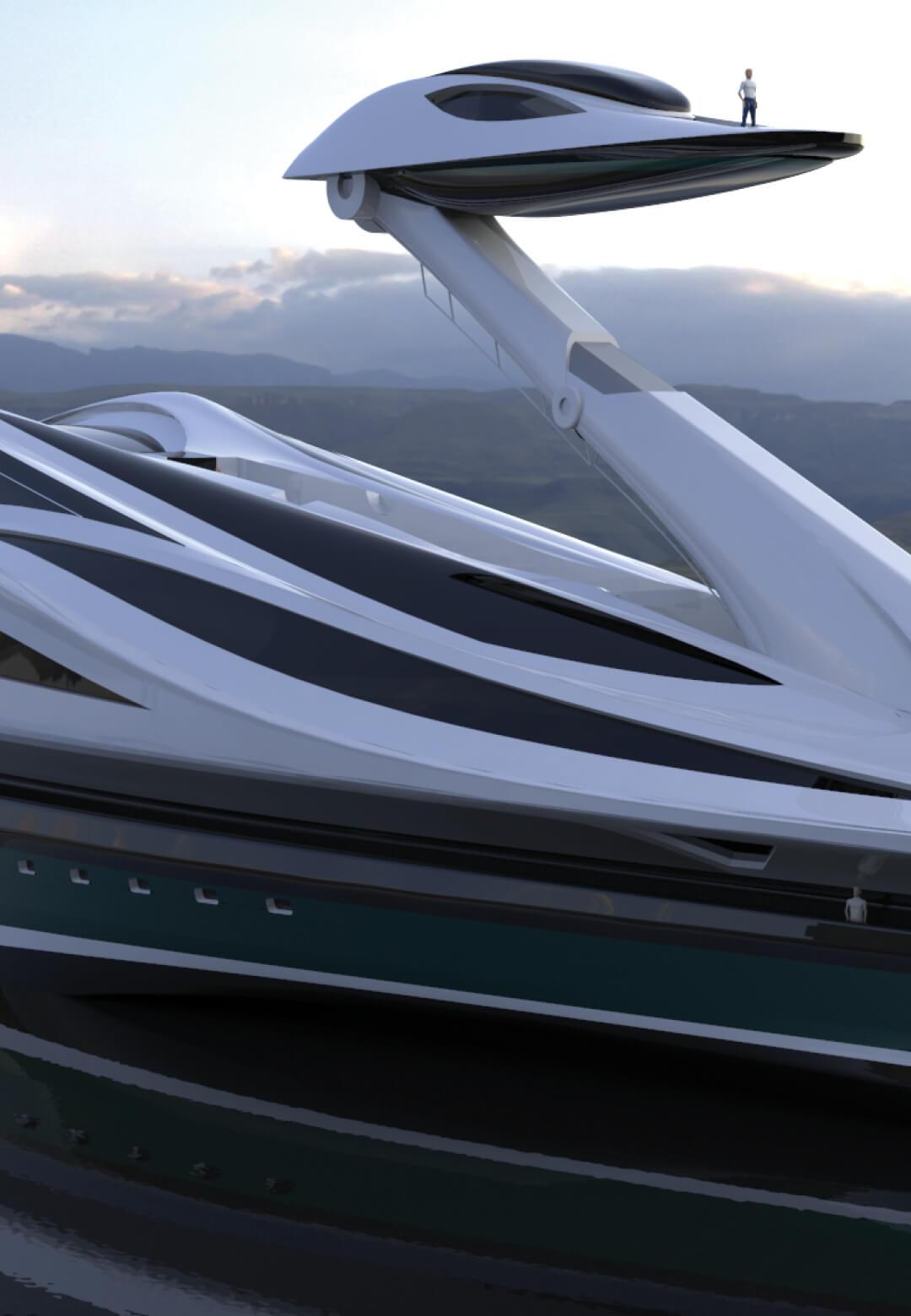 Avanguardia is a cutting-edge design for a 137-metre mega yacht | Avanguardia by Lazzarini Design Studio | STIRworld