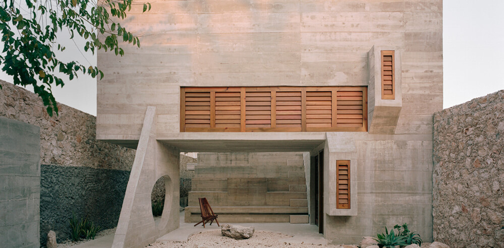 Ludwig Godefroy brings 'béton brut' elements to Casa Merida in Mexico