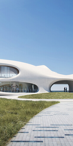 MAD Architects design seaside Wormhole Library in southeast China