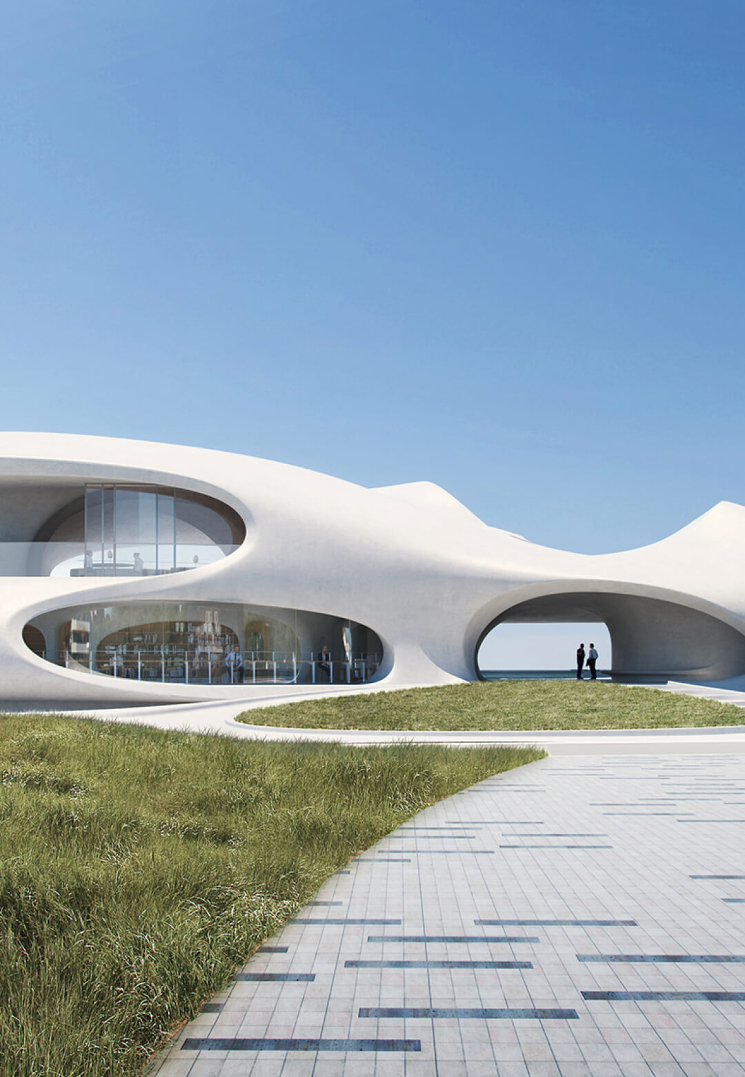 Wormhole Library by MAD Architects is clad in white cast concrete | Wormhole Library by MAD Architects | STIRworld