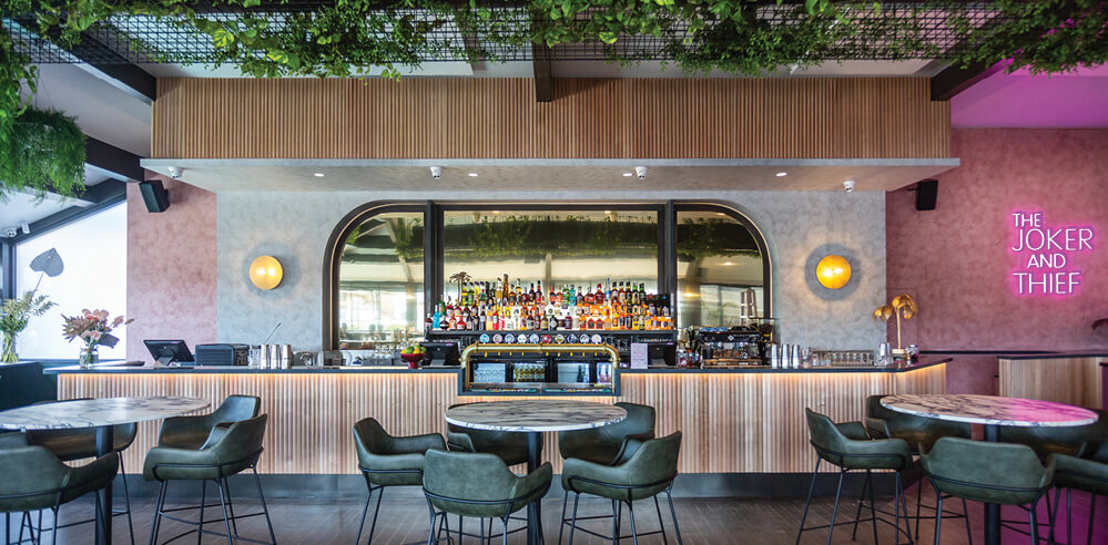 Mad Men meets INXS inside The Joker and Thief bar designed by Fabric Architecture