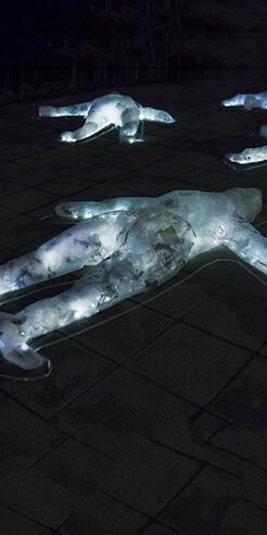 Madrid-based Luzinterruptus on creating light installations in public spaces
