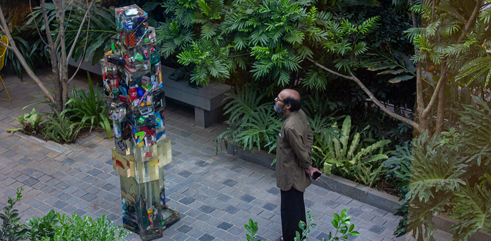 Manush John and Natasha Sharma talk 'trash' through their installation in Bengaluru