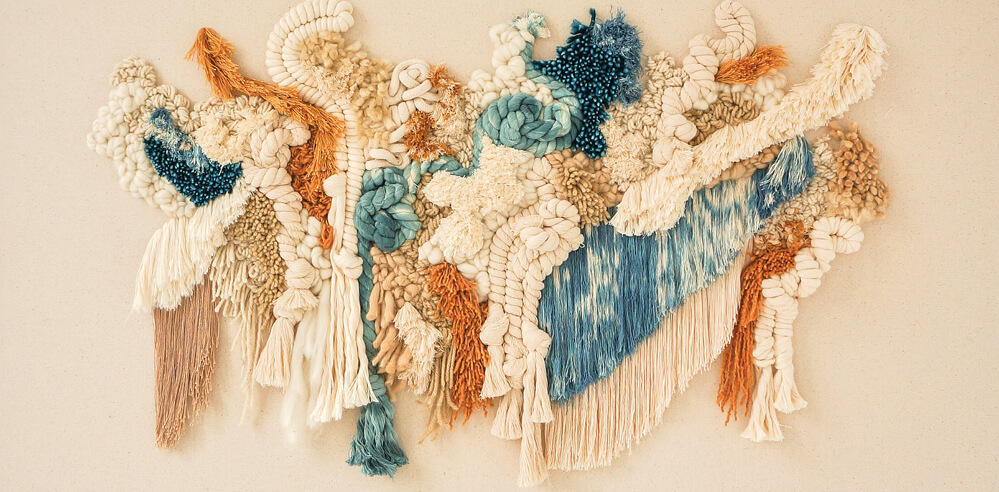 Mariana Baertl translates swirling movements of nature with fibres