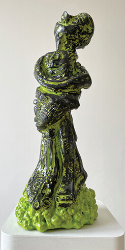 Mark Frygell's sculptures manifest his image world into three-dimensional form