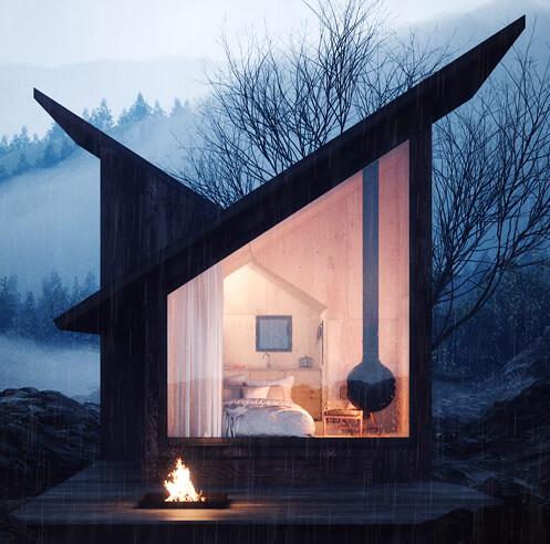 Massimo Gnocchi and Paolo Danesi design prefab 'Mountain Refuge' for remote places