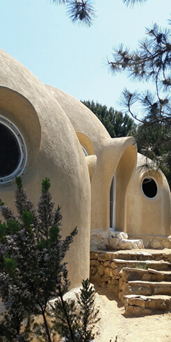 Matthew Prosser crafts a 'Hobbit' like home from three earthen domes