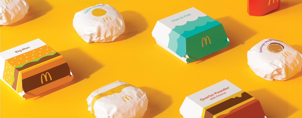 McDonald's new packaging is 'aesthetically minimal' and 'emotionally joyful'