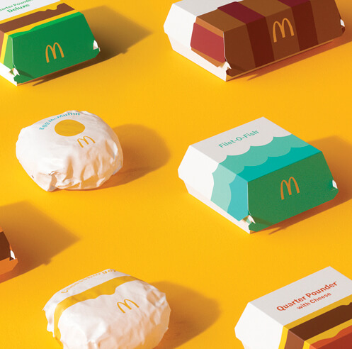 McDonald's new packaging is 'aesthetically minimal' and 'emotionally joyful'