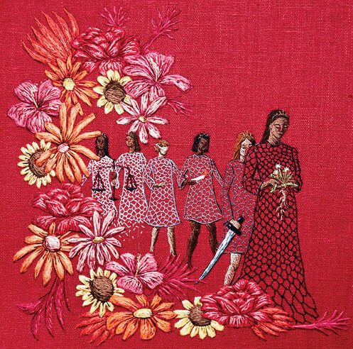 Michelle Kingdom's embroidered works narrate personal stories