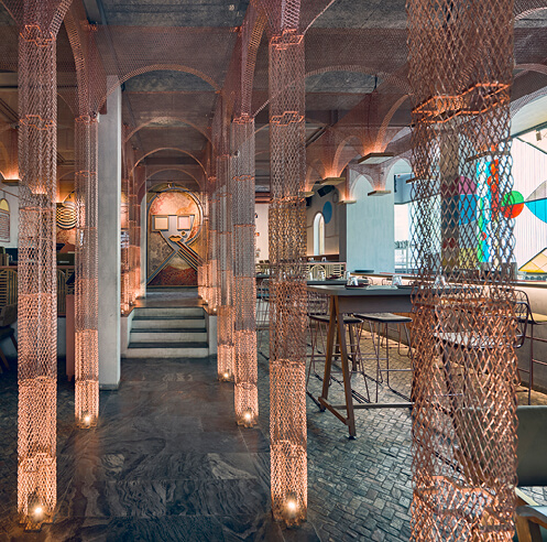 FADD Studio imagines MISU restaurant in Bengaluru as an old, unfinished chapel