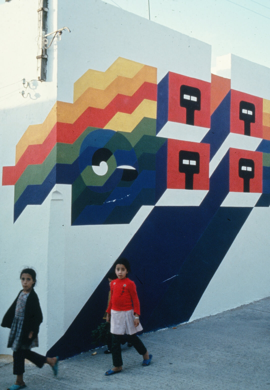 Fresco by Mohammed Chabaa, Asilah Moussem, late 1970s| Safieddine-Melehi Archives | STIRworld
