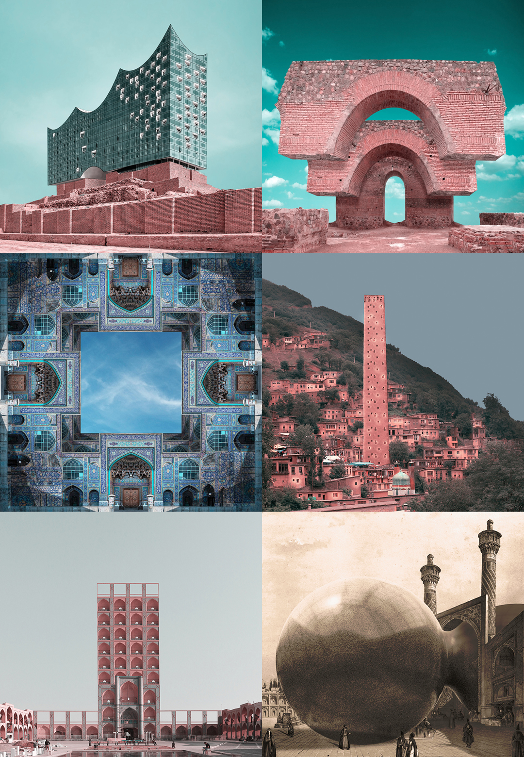 The series 'Retrofuturism' that merges contemporary architecture with ancient sites in Iran | Mohammad Hassan Forouzanfar | Retrofuturism | STIRworld
