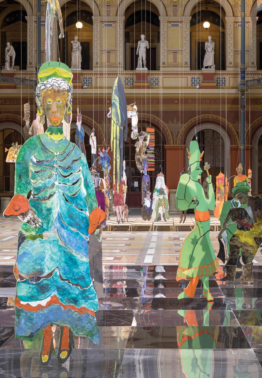 An installation view of Anna Boghiguian's work at Mori Art Museum | Another Energy | Anna Boghiguian | STIRworld
