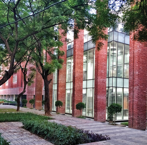 Morphogenesis builds the sustainable Lalit Suri Hospitality Institute in brick