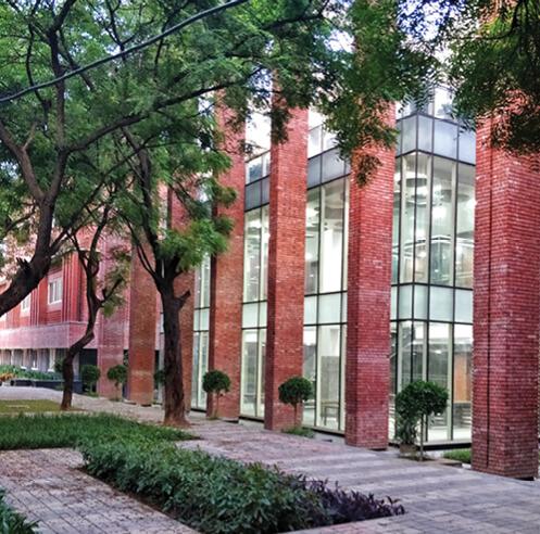 Morphogenesis builds the sustainable Lalit Suri Hospitality Institute in brick