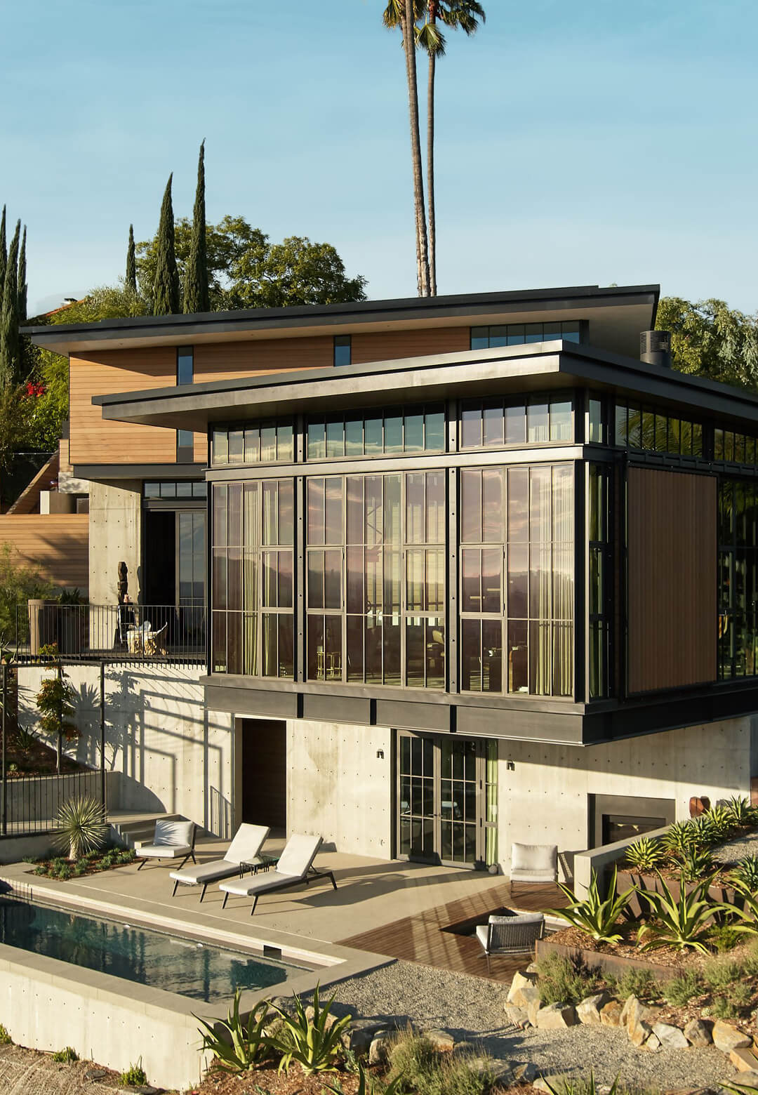 The structure gently sits on the sloping hill and opens out to magnificent views   Hollywood Hill House   Mutuus Studio   STIRworld