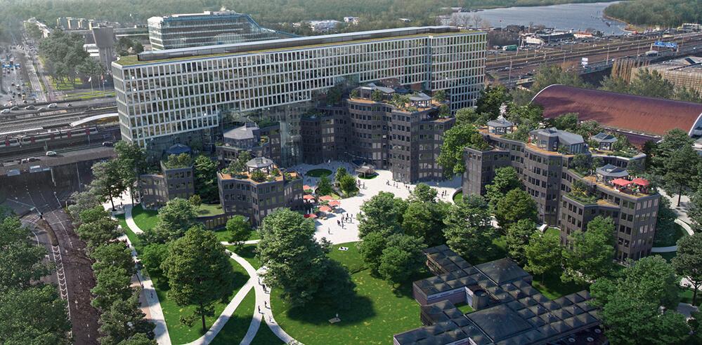 MVRDV to revive Aldo van Eyck's Tripolis complex in Amsterdam