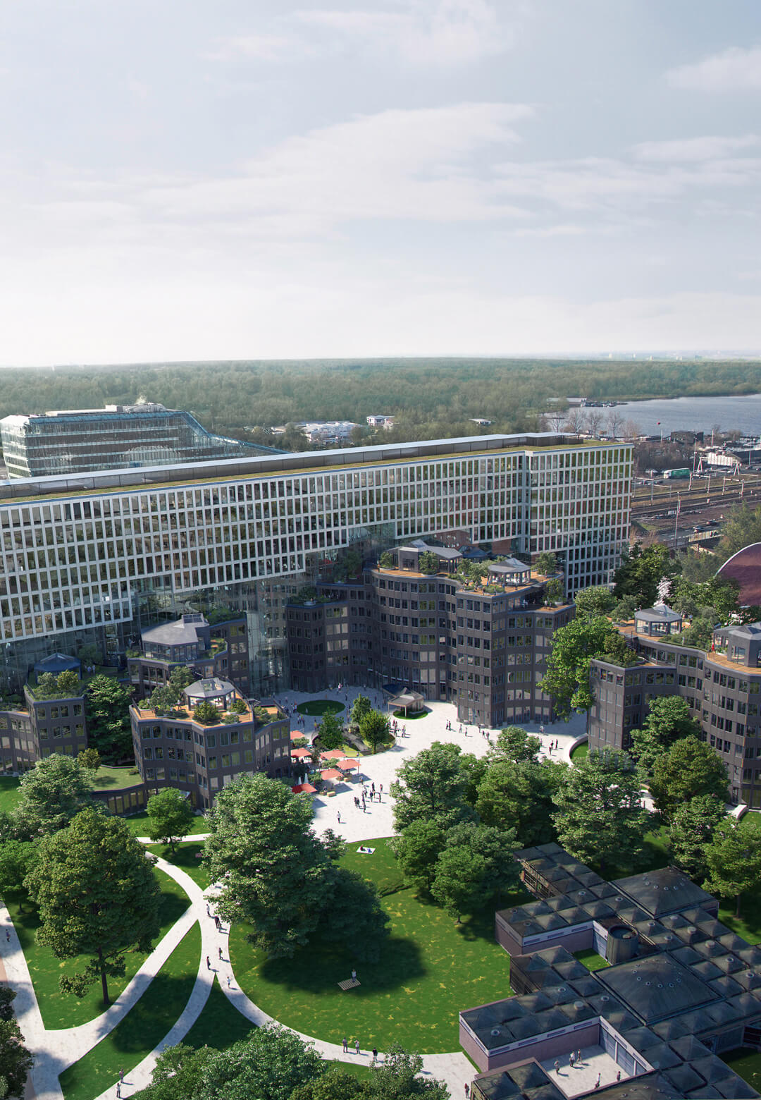 A view of the proposed development of the Tripolis office complex | Tripolis Office Complex | MVRDV | STIRworld