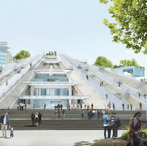 MVRDV begins construction on Pyramid of Tirana, Albania