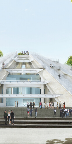 MVRDV begins construction on Pyramid of Tirana, Albania