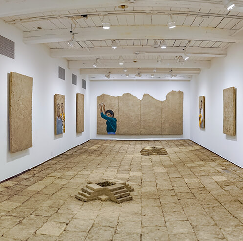 Rafa Esparza's exhibition transforms MASS MoCA's white walls into a 'brown-scape'