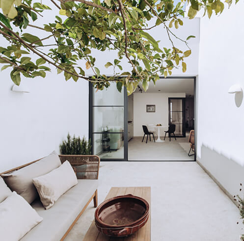 Natural light and local culture define a holiday home in Palma de Mallorca, Spain