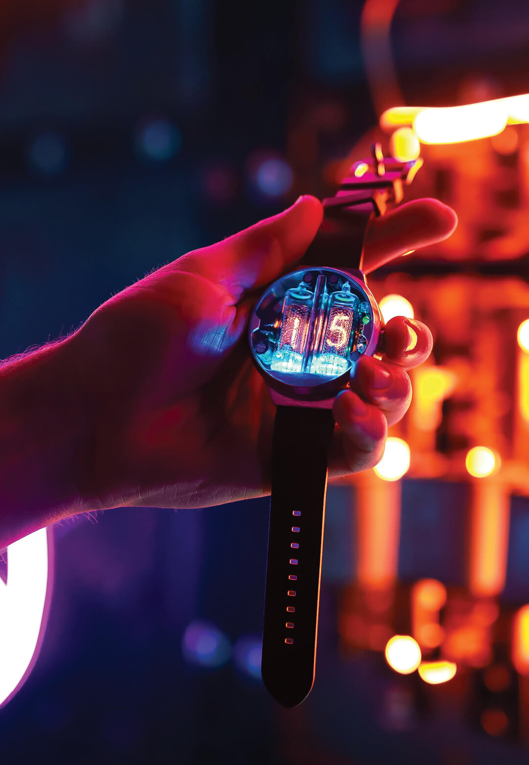 The Nixoid Next brings back the nixie tube technology back in style, encased in a well designed watch   Nixoid Next   Nixod Lab   STIRworld