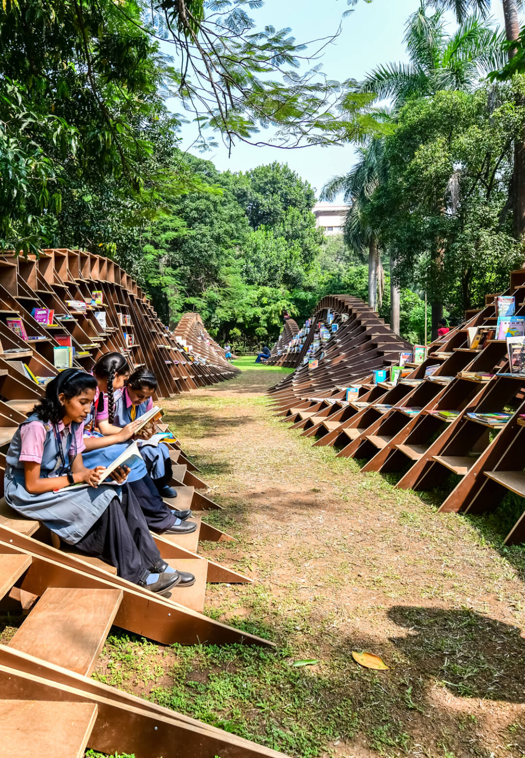 The Bookworm pavilion at the CSMVS museum grounds | Bookworm pavilion| Nudes | Nuru Karim | STIRworld