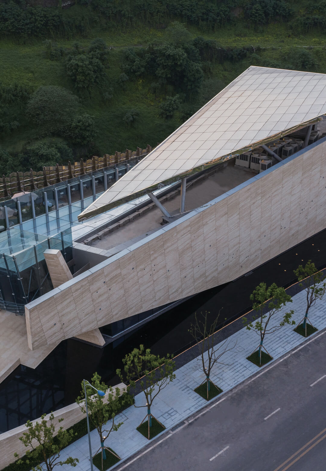One Sino Park by aoe in Chongqing, China features angled planes and sculptural deconstructivism   One Sino Park by aoe   STIRworld