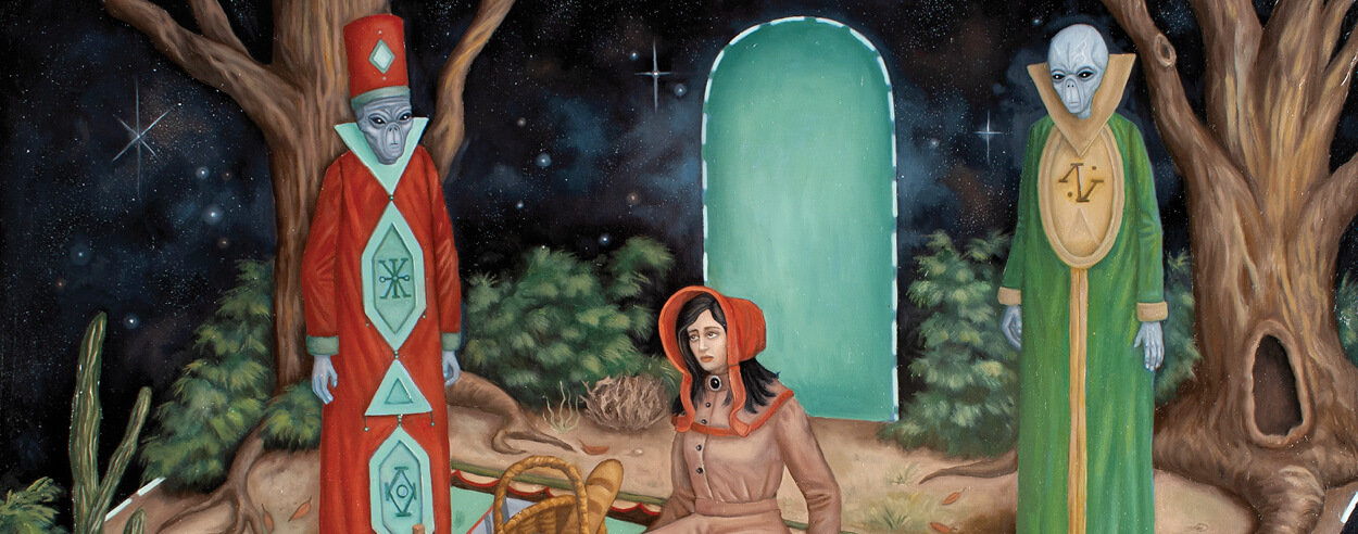 Painter Mark Rogers invites us into his world of fantasy and fiction