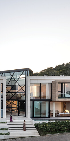 Panoramic House in Brazil offers striking views of the sea and the surrounding forest