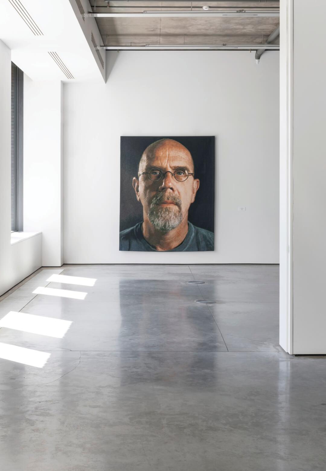 Installation shot - Chuck Close at Gary Tatintsian Gallery   Chuck Close   STIRworld