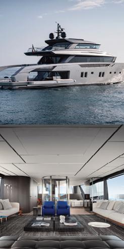 Piero Lissoni channels a 'floating villa' through the interiors of Sanlorenzo SX112