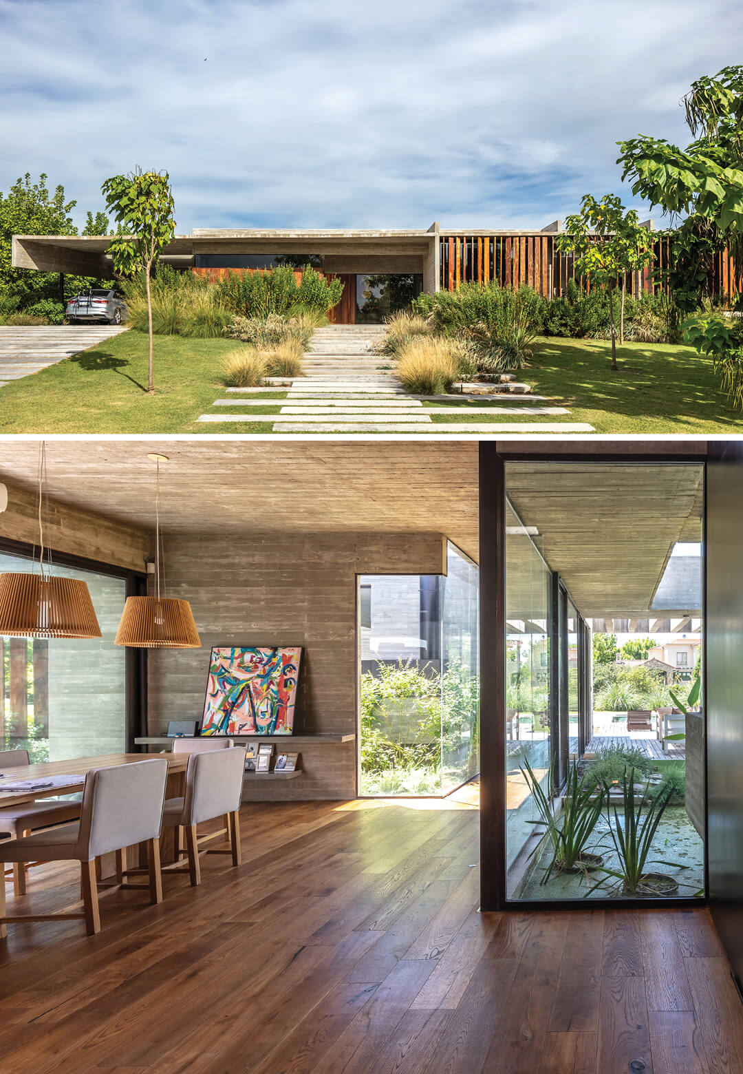 Besonías Almeida Arquitectos has crafted Pilará House, a single-floor home in Pilar, Argentina, that is equal parts rustic and modern | Pilará House by Besonías Almeida Arquitectos | STIRworld