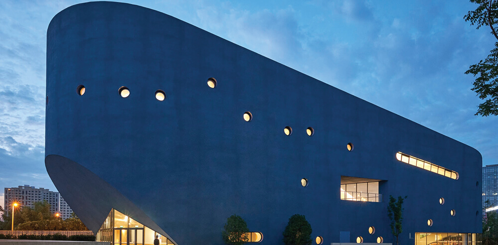 Pinghe Bibliotheatre by OPEN Architecture finds curious inspiration in the blue whale