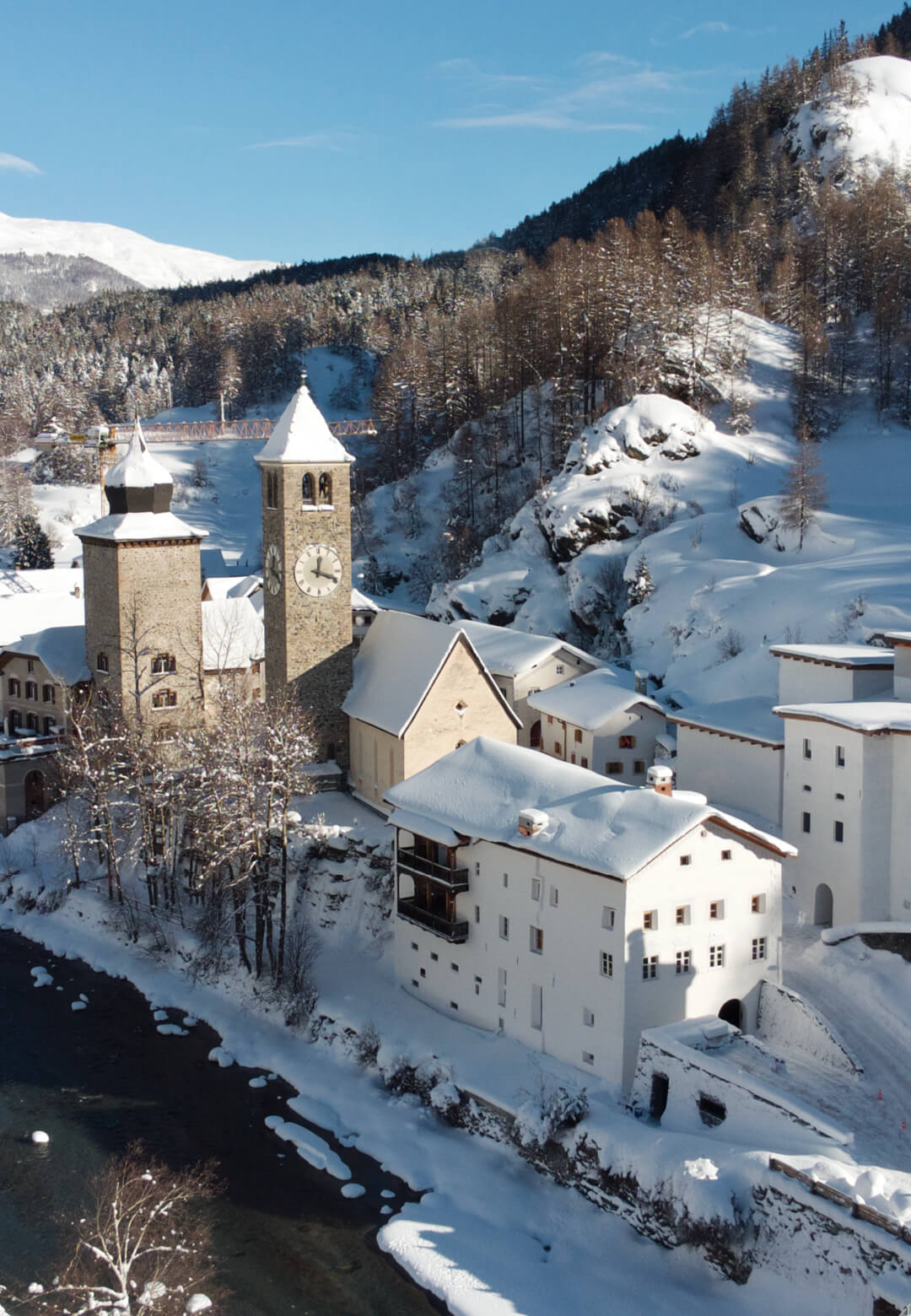 The museum housed in a 12th century former monastery and brewery in Susch, a remote town in the Engadin valley of the Swiss Alps | Museum Susch | Chasper Schmidlin and Lukas Voellmy | STIRworld