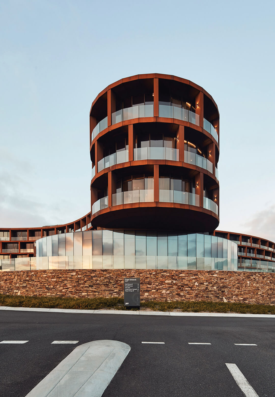 The RACV Cape Schnack Resort in Australia emerges as a response to the nearby shoreline's rugged nature, both in form and finish | RACV Cape Schanck Resort | Wood Marsh | STIRworld