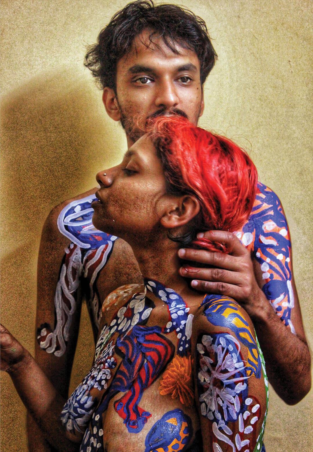 Ratyaditya Verma's body based artworks often include couples | Aditya Verma | STIRworld