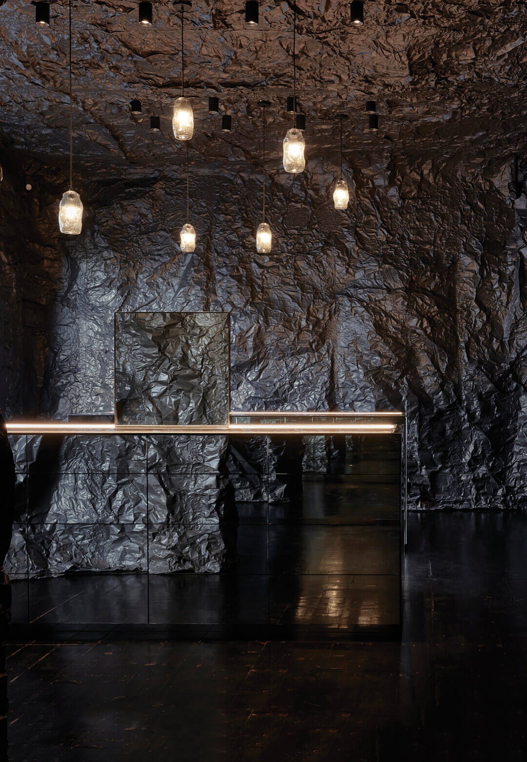 Cave-like landscape installation by Russell & George for jewellery brand Sarah & Sebastian   Sarah & Sebastian   Russell & George   STIRworld