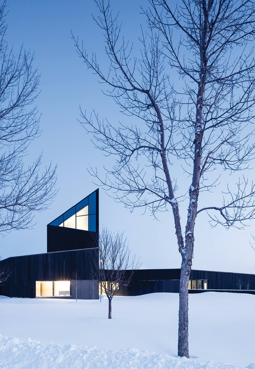 South Haven Centre for Remembrance sits amid a snow capped cemetery in Edmonton, Canada | South Haven Centre for Remembrance by Shape Architecture | STIRworld