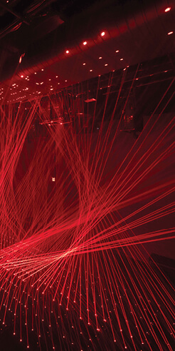 Shohei Fujimoto showcases a kinetic laser installation at ARTECHOUSE in New York
