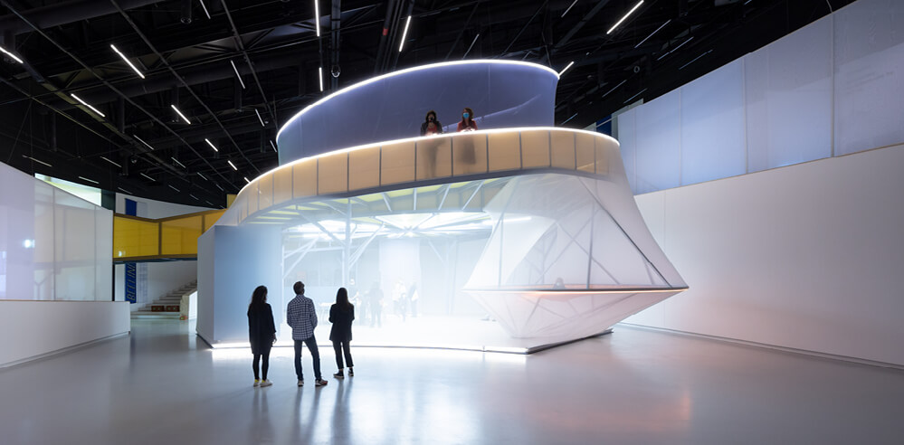 SO-IL designs Beeline as an ephemeral architectural intervention for MAAT, Lisbon