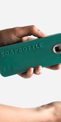 SoapBottle is a dissolving, sustainable packaging for personal care products